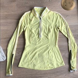 Lululemon Yellow 1/4 zip up top size 4